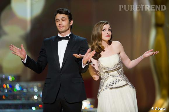 James Franco et Anne Hathaway ont présenté ensemble la 38ème cérémonie des Oscars.