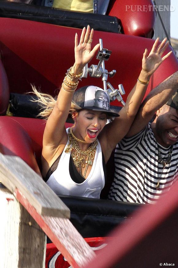 Beyoncé a passé la journée de jeudi à Coney Island, le parc d'attractions de Brooklyn.