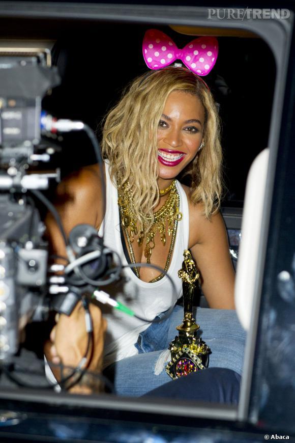 Beyoncé lors du tournage de son clip !