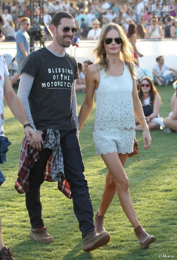 Kate Bosworth et Michael Polish au festival de Coachella 2013.