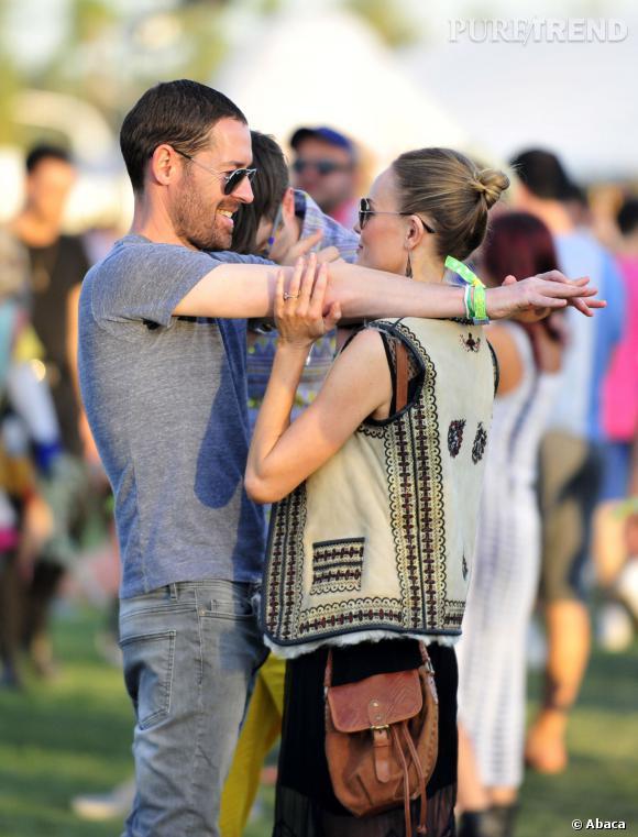 Kate Bosworth et Michael Polish, très amoureux au festival de Coachella 2013.
