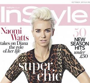 Naomi Watts, transformee en punk decoloree aux sourcils dark pour InStyle