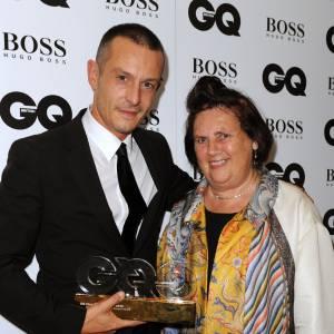 Jonathan Saunders, Le designer de la marque pour homme de l'année, avec Suzy Menkes aux GQ Men of The Year 2013.