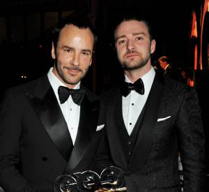 Tom Ford, Styliste de l'année, et Justin Timberlake aux GQ Men of The Year 2013.