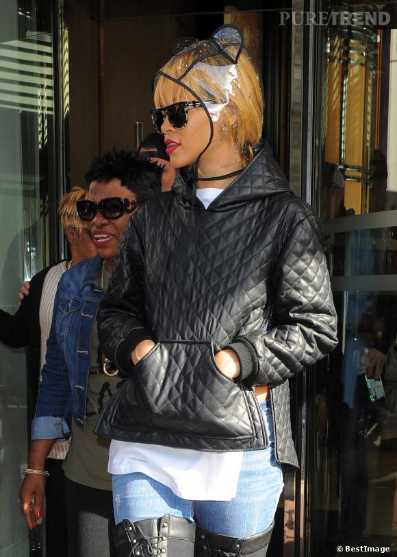 Le bonnet : la fashion obsession de Rihanna à copier !    Rihanna ose même la capuche à oreilles Maison Michel