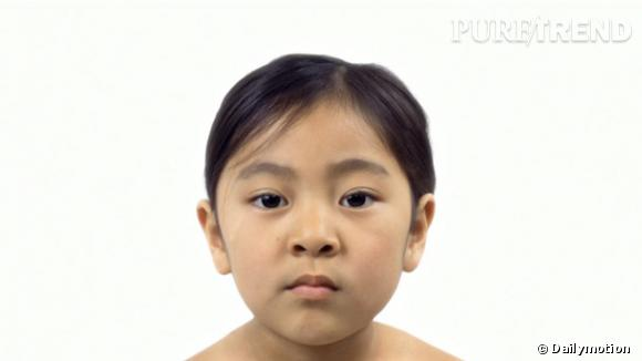L'incroyable morphing : une petite fille prend 70 ans en 1 minute !