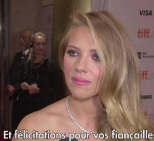 Scarlett Johansson : ses fiançailles ? Un sujet tabour sur tapis rouge !