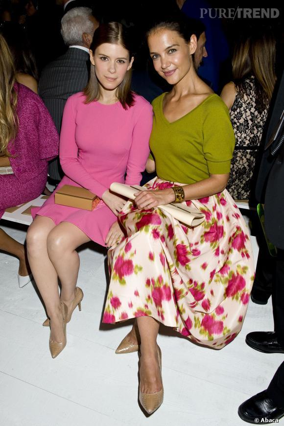 Kate Mara et Katie Holmes au premier rang du défilé Michael Kors.