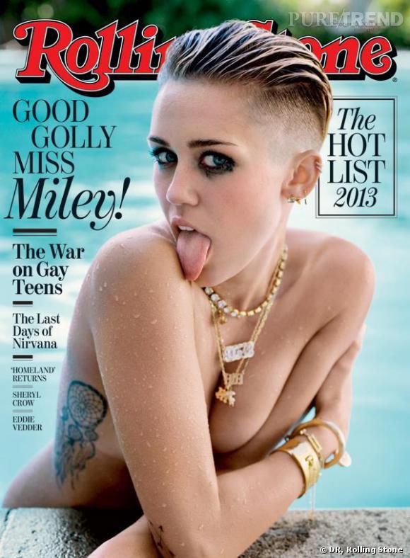 Miley Cyrus toute nue pour sa première couverture de Rolling Stone Magazine.