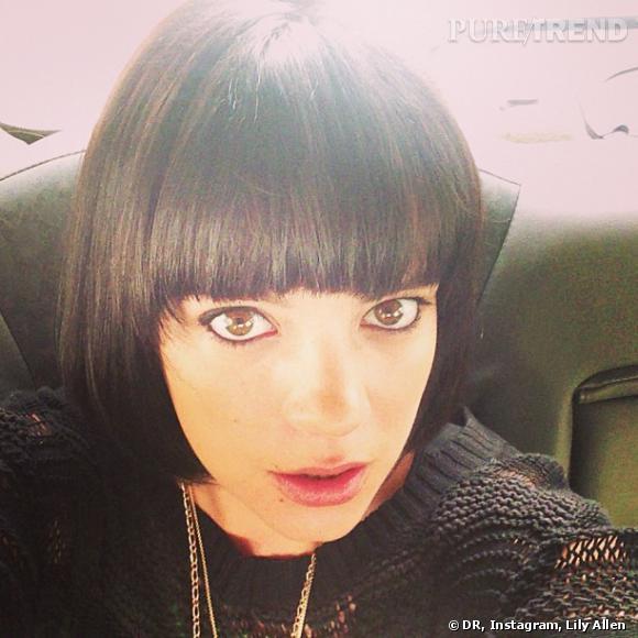 Lily Allen a posté sur les réseau sociaux une photo de sa nouvelle tête.