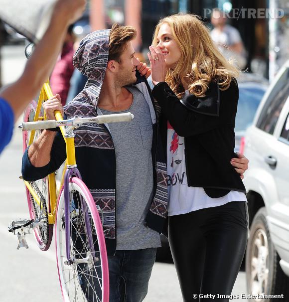 Scott Eastwood et Erin Heatherton sur un shooting photos à Soho.