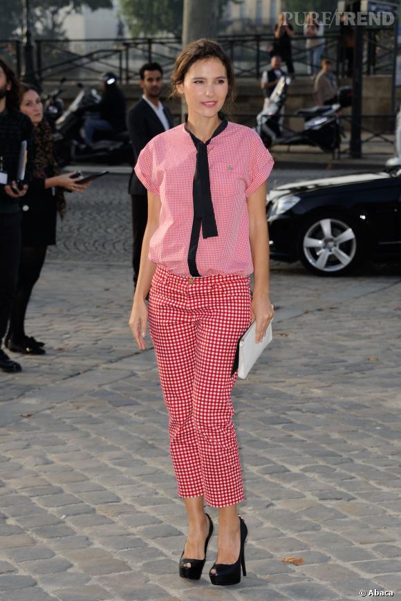 Virginie Ledoyen au défilé Printemps-Été 2014 Louis Vuitton.