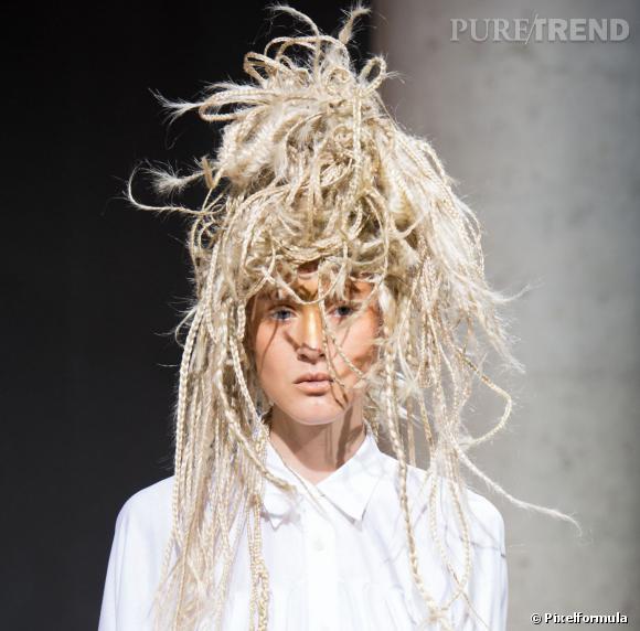 La perruque de paille - Défilé Junya Watanabe printemps-été 2014