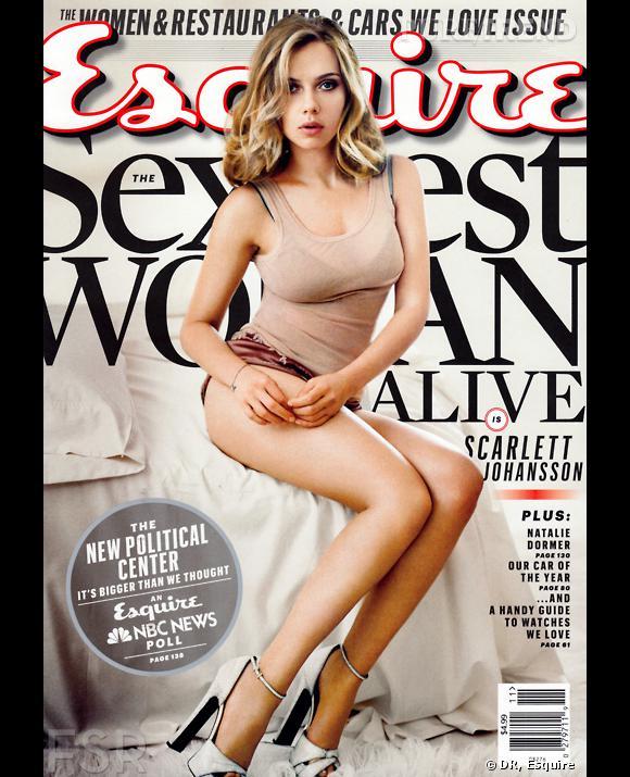 Scarlett Johansson, de nouveau élue femme la plus sexy selon Esquire !