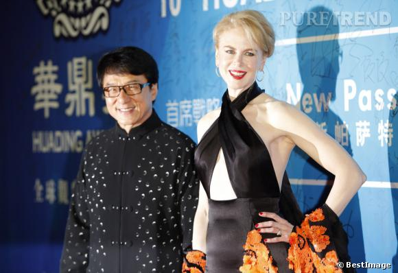 Nicole Kidman en Chine au côté de Jackie Chan pour les Hauding Awards.