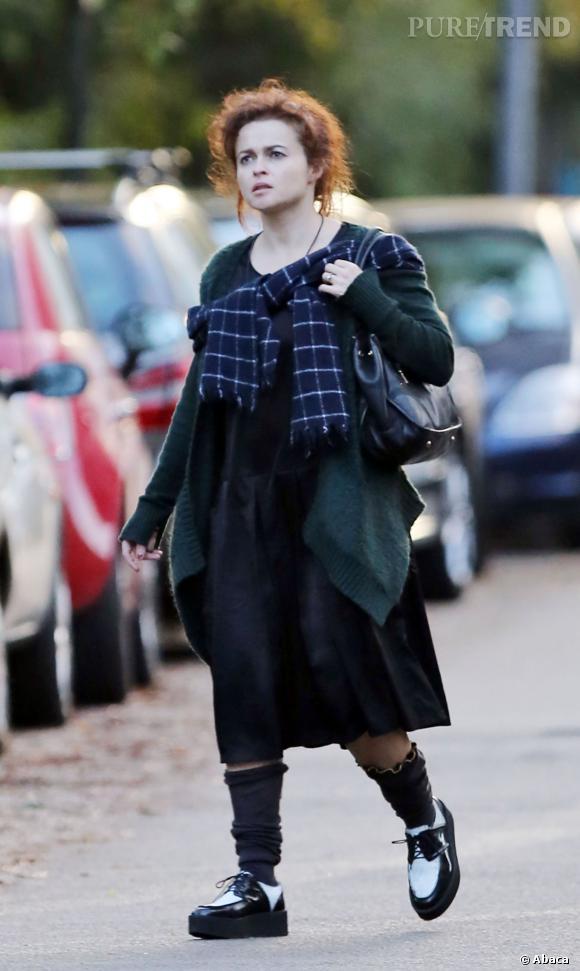 Helena Bonham Carter, fidèle à ses looks très débraillés.