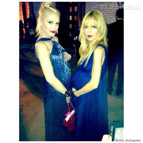 Rachel Zoe a partagé sur Instagram quelques photos des semaines passées, dont l'une au gala Performing Arts, où elle a croisé Gwen Stefani. Match de baby bump en vue !