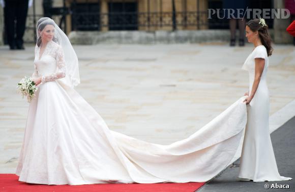 Kate Middleton se marie au Prince William en Alexander McQueen par Sarah Burton.