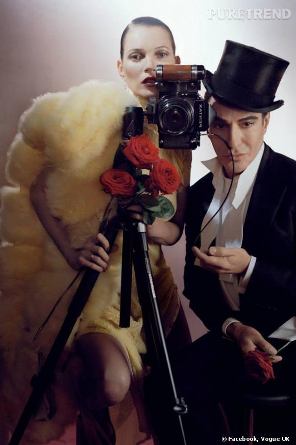 Kate Moss et John Galliano dans le prochain numéro du Vogue UK.