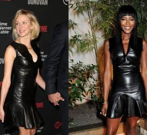 Naomi Watts vs Naomi Campbell : la robe en cuir Alexander McQueen