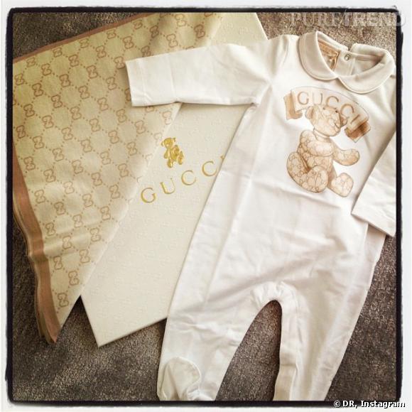 Gucci félicite à sa façon Natasha Poly pour sa grossesse.