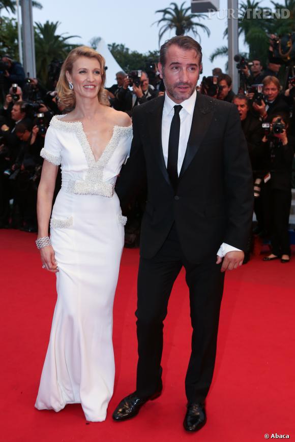 Jean Dujardin et Alexandra Lamy lors du Festival de Cannes 2012.