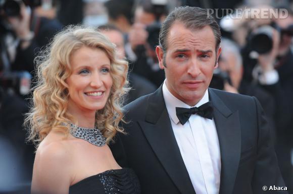 Alexandra Lamy et Jean Dujardin au Festival de Cannes 2011.