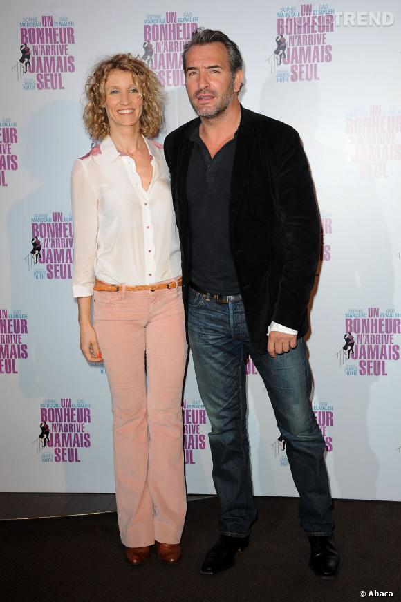 Jean Dujardin et Alexandra Lamy lors de leur dernière apparition en couple, pendant l'été 2012.
