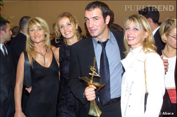Jean Dujardin et Alexandra Lamy lors d'une de leur première apparition (avant même d'être en couple), en 2001.