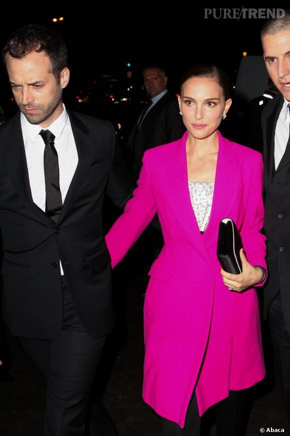 "Natalie Portman et Benjamin Millepied à l'inauguration de l'expo ""Miss Dior""."