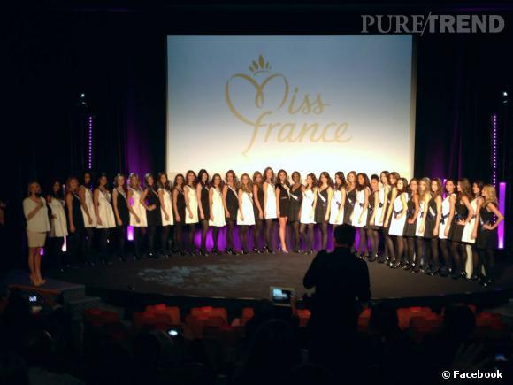 Sylvie Tellier et Marine Lorphelin ont présenté les 33 candidates au titre de Miss France 2014 lors de la conférence de presse TF1.