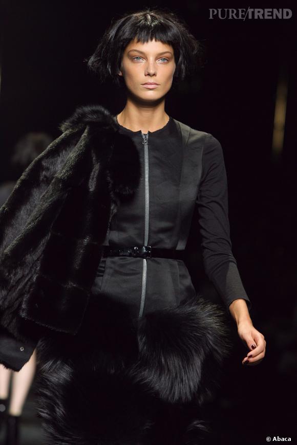 Daria Werbowy au défilé Lanvin Automne-Hiver 2007/2008.