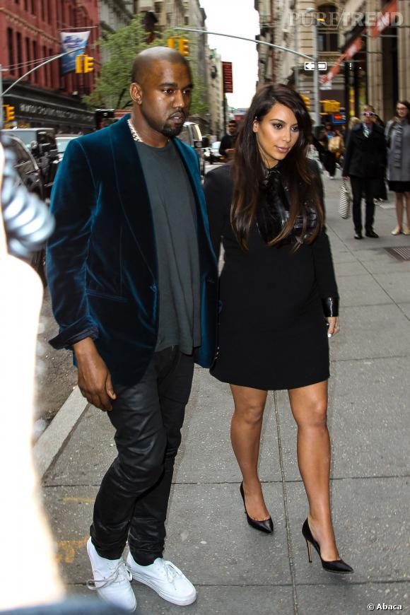 Kim Kardashian, première supportrice de Kanye, était dans la salle pour l'encourager.