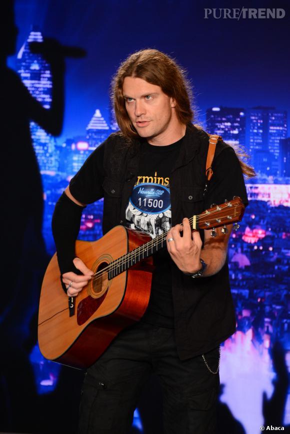 """Guillaume, 33 ans (audition Paris) : Sûrement l'OVNI de l'émission """"Nouvelle Star"""", ce fan de hard rock a un coffre puissant et l'a prouvé avec du Deep Purple et du Gérard de Palmas."""