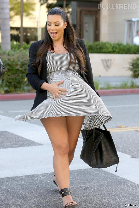 Enceinte de North, Kim Kardashian a été copieusement critiquée sur son poids.