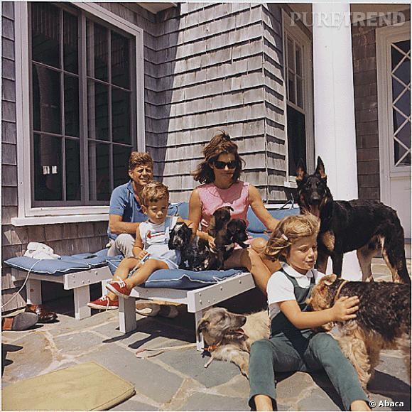 Jackie Kennedy en famille.