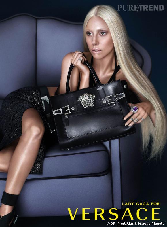Lady Gaga, égérie de la campagne Printemps-Été 2014 Versace.