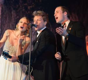 Le prince William aux côtés de Taylor Swift et de Jon Bon Jovi sur scène !