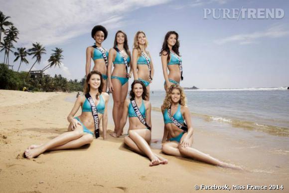 Décor de rêve pour les photos en bikini des candidates Miss France 2014.