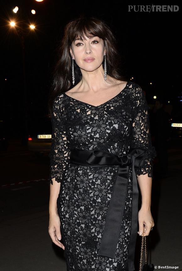 Monica Bellucci à la soirée Cartier, femme fatale et délicate.