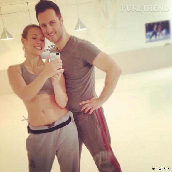 """Lorie est de retour dans le studio d'entraînement de """"Danse avec les Stars"""", en compagnie de Christian Millette."""