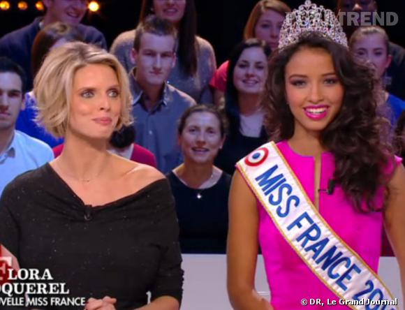 Sylvie Tellier baby-sitter officielle et Flora Coquerel nouvelle Miss France.