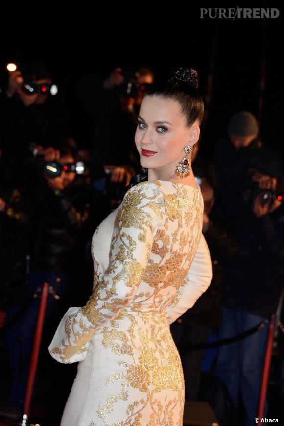 Katy Perry lors de son arrivée aux NRJ Music Awards 2013 à Cannes.