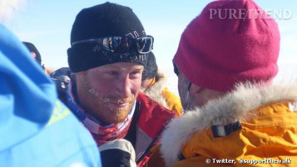 3 semaines en Antarctique et voilà le Prince Harry transformé.