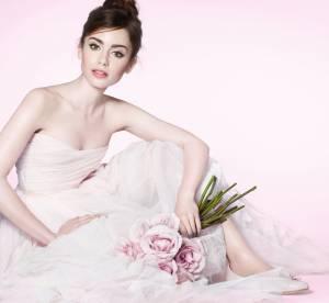 Lily Collins, divine ballerine française pour le maquillage Lancôme 2014