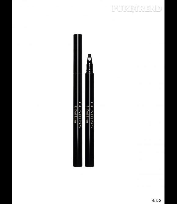 Pas douée pour dessiner un trait de liner ? Clarins arrive à votre rescousse avec son 3Dot Liner. Sortie de manière éphémère en 2012, il est devenu un régulier des gammes Clarins maquillage en 2013. Eye liner 3 Dot Liner de Clarins - 25,00€.