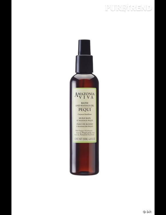 Les huiles douche et bain font partie des nouveaux must-have beauté. Cette huile venue du Brésil laisse la peau douce et souple après la douche, même si vous avez eu la flemme d'appliquer un lait corporel. Huile Bain et Massage Pequi de Amazonia - 25,00€.