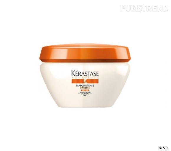La gamme Nutritive Irisome de Kerastase est devenu un grand classique de la beauté des cheveux. On aime tout particulièrement le masque Irisome qui s'adresse aux cheveux fins. Masquintense Irisome de Kerastase - 27,50€.