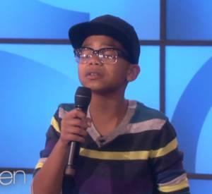 Cam Anthony, un jeune garçon à la voix d'or invité sur le plateau d'Ellen DeGeneres.