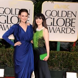 Les soeurs Deschanel aux Golden Globes.
